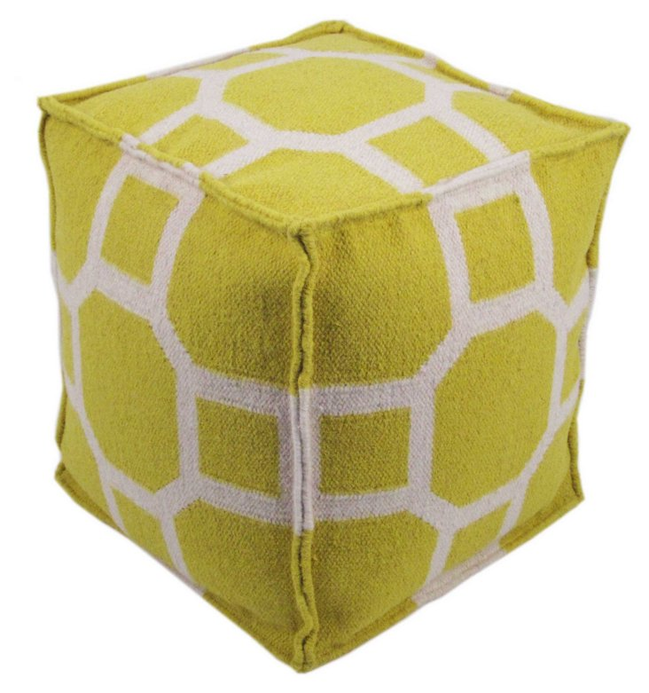 Eva Pouf, Yellow/White