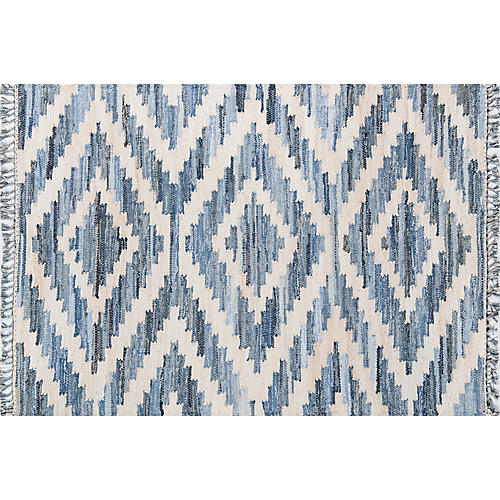 Selby Flat-weave Rug, Blue