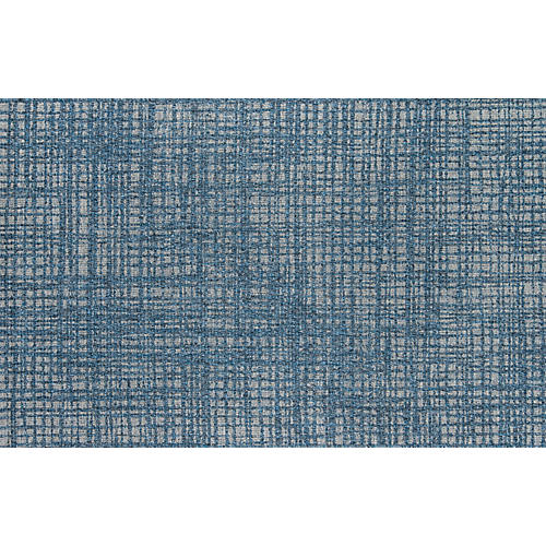 Huniot Outdoor Rug, Blue