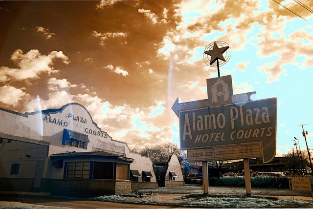 Alamo Plaza Photograph, B. Lucien