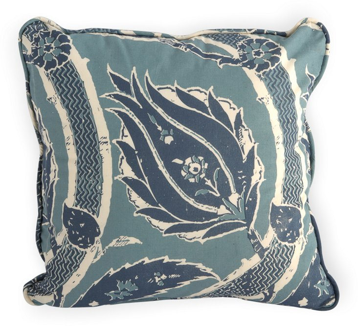 Blue Sultana Pillow