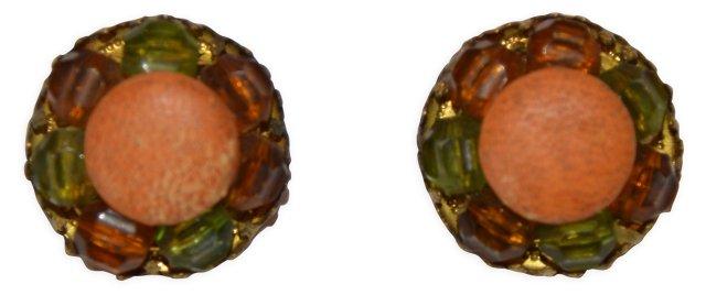 1950s Cluster Earrings