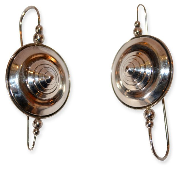 1970s Brazilian Sterling Silver Earrings
