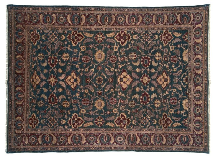 """8'9""""x11'9"""" P. Agra Rug, Forest Green"""