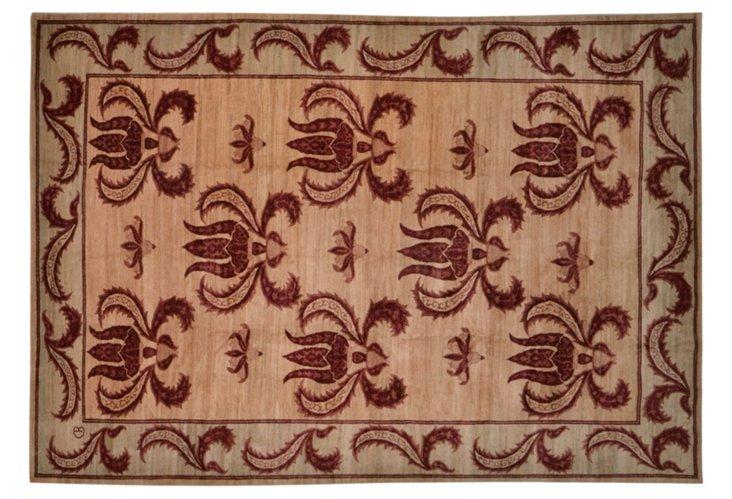 """9'9""""x13'4"""" Arts & Crafts Rug, Burgundy"""