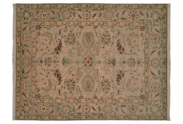 """8'1""""x10'6"""" Sultanabad Rug, Taupe/Mint"""