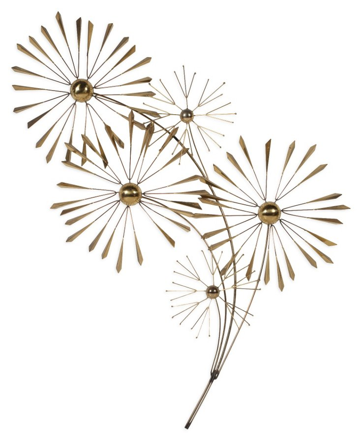 C. Jeré Daisies Brass Wall Art, 1983