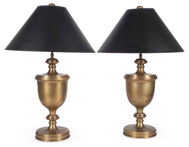1970s Chapman Urn Lamps, Pair