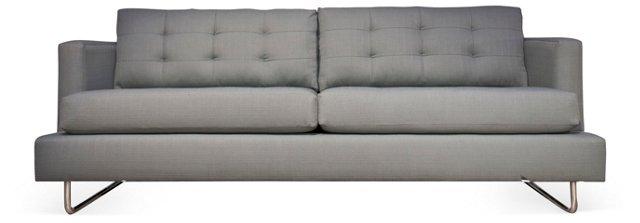 """Rome 86"""" Tufted Sofa, Gray"""