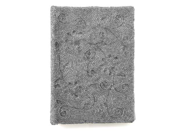 Beaded Journal, Silver Swirl