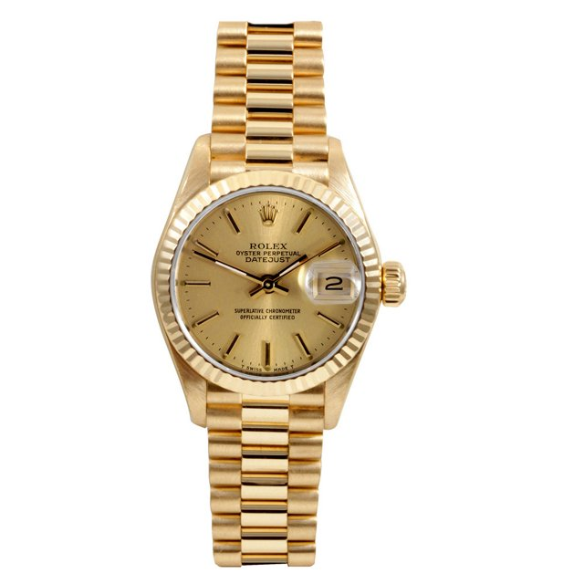 26mm Gold President Champagne Dial