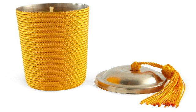 Candle with Tassel, Yellow