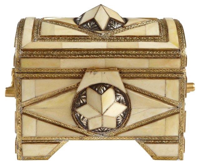 Cow Horn & Brass Box