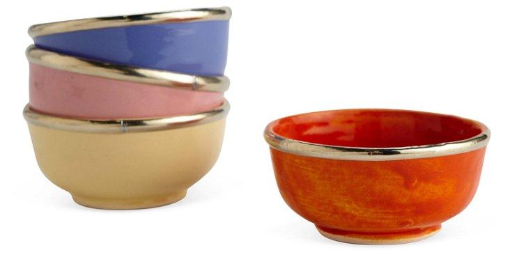 Set of 4 Assorted Ceramic Bowls