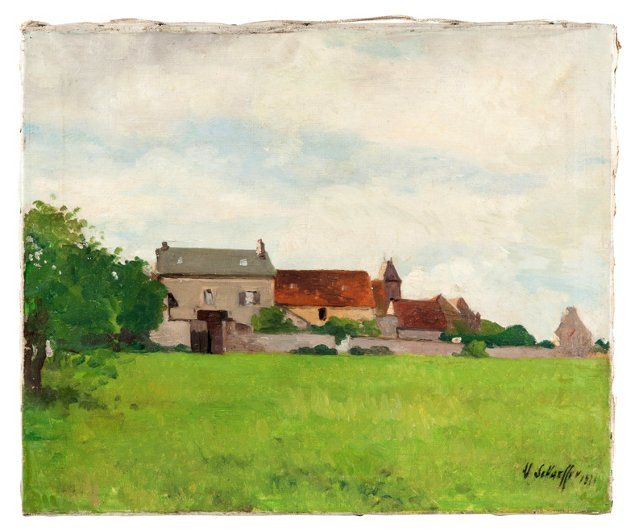 Oil Painting, French Country House