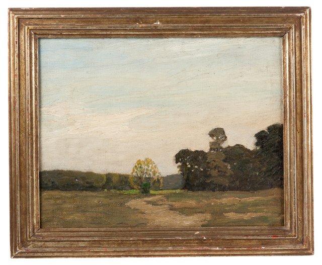Oil Painting, Connecticut Landscape