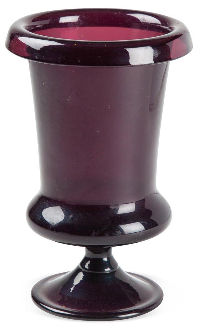 Antique Purple Amethyst Fluted Vessel