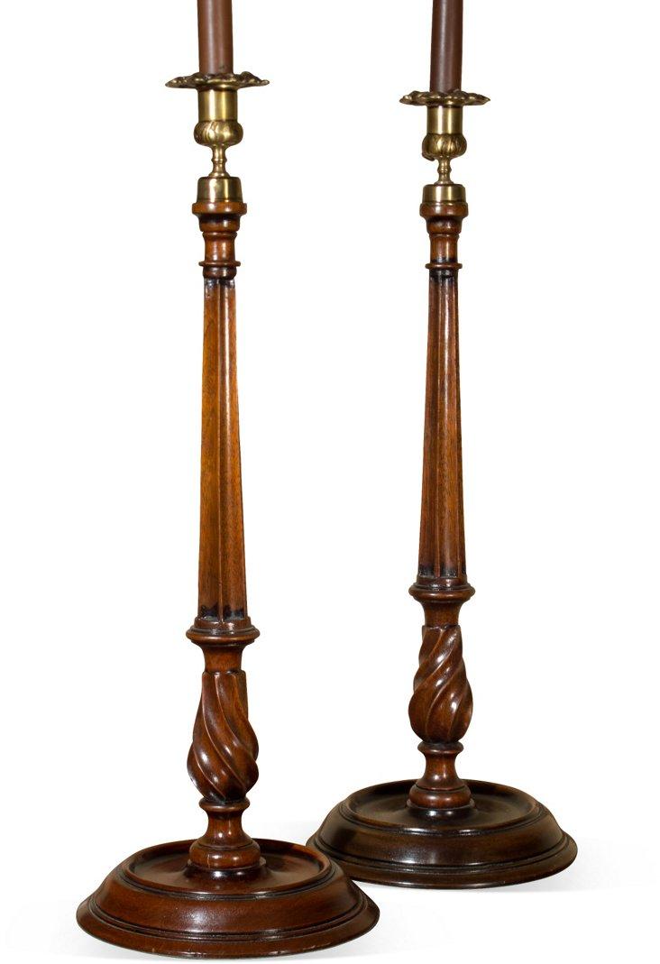 Georgian-Style Candlesticks, Pair