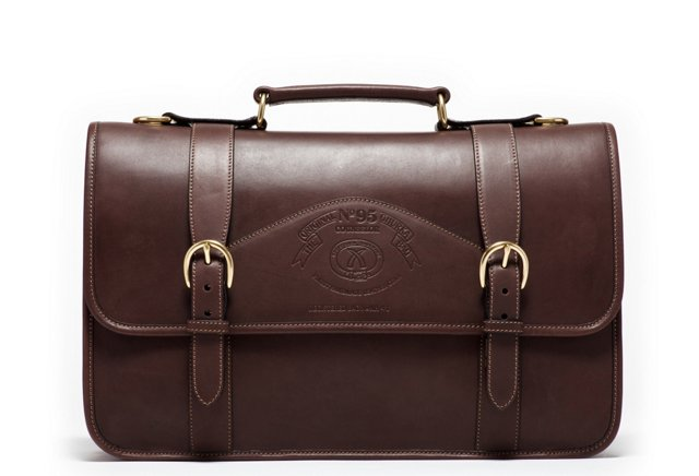 Leather Counselor Briefcase, Walnut
