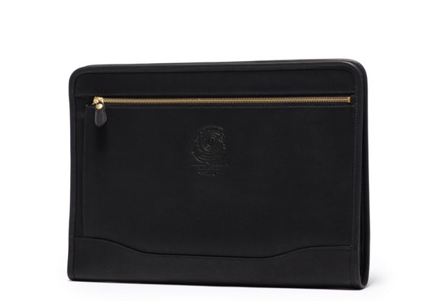 Leather Webster Portfolio, Black