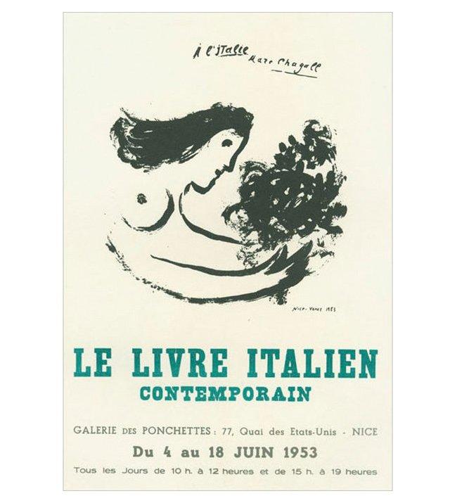 Marc Chagall, Le Livre Italien, Nice