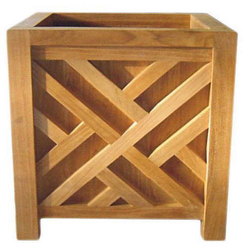 Teak Chippendale Planter Box