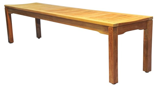 "Teak 72"" Backless Bench"