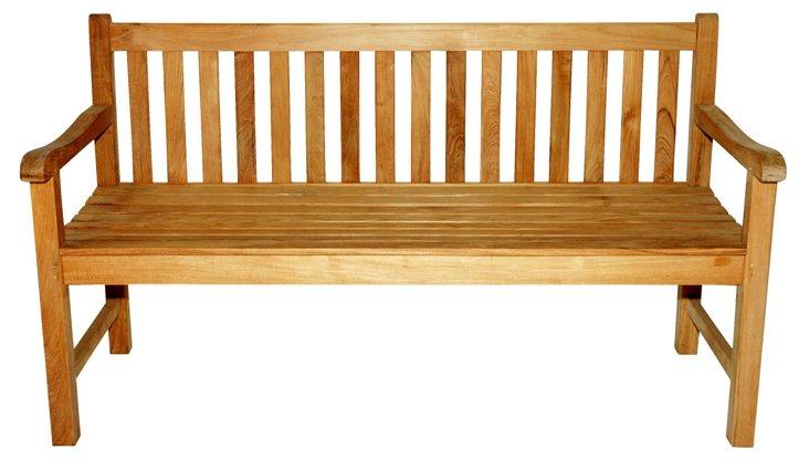 """Garden 60"""" Bench, Natural"""