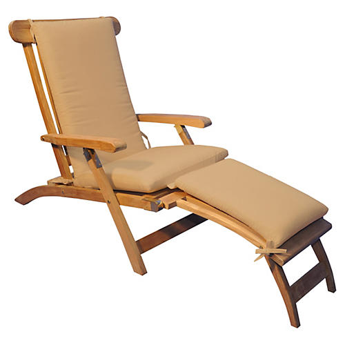 Devon Steamer Chair, Heather Beige