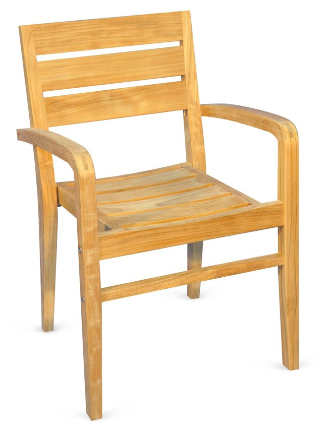 DNU, D-Teak Stacking Armchair