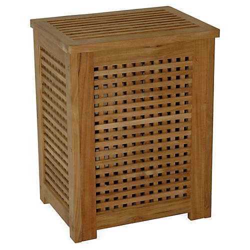 Large Teak Hamper