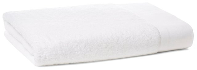 Dobby Border Bath Sheet, White