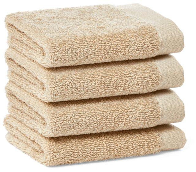 3-pc Pom Pom Edge Towel Set, Navy