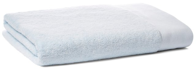 Dobby Border Bath Sheet, Ice Blue
