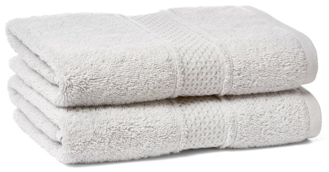 S/2 Classic Hand Towels, Dove