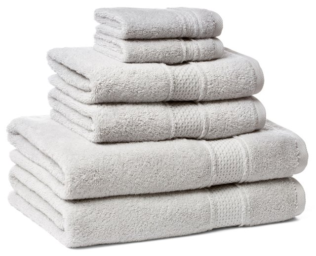 6-Pc Classic Towel Set, Dove