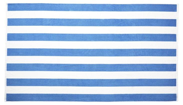 Cabana Stripe Beach Towel, French Blue