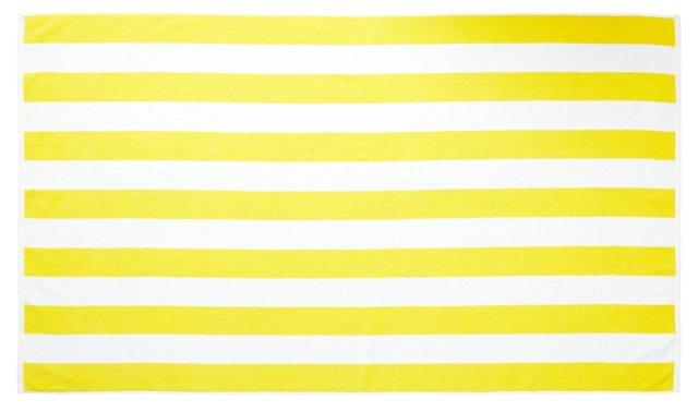 Cabana Stripe Beach Towel, Yellow