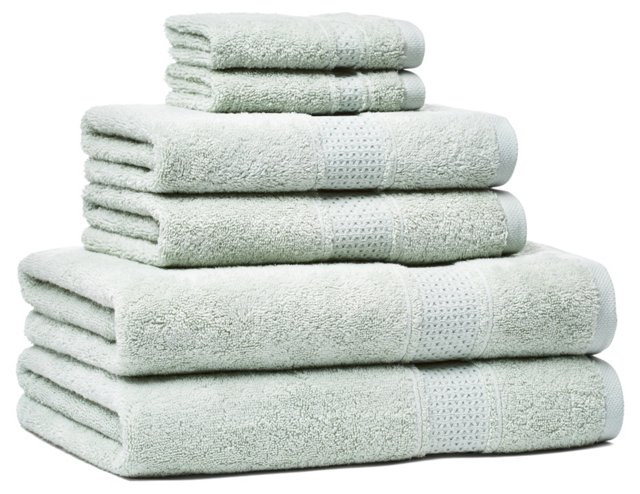 6-Pc Classic Towel Set, Silver Sage