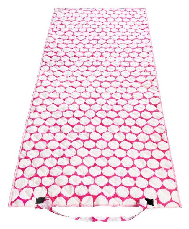 Beach Roll Up Mat, Big Dot Pink/White
