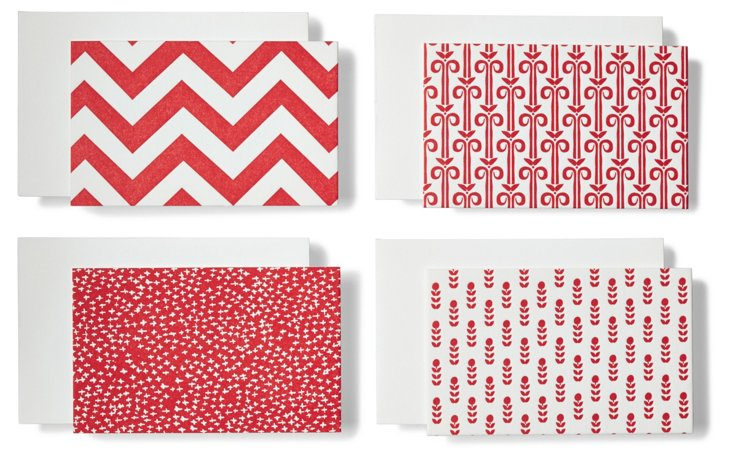 S/12 Lipstick Flat Matte Cards, Red
