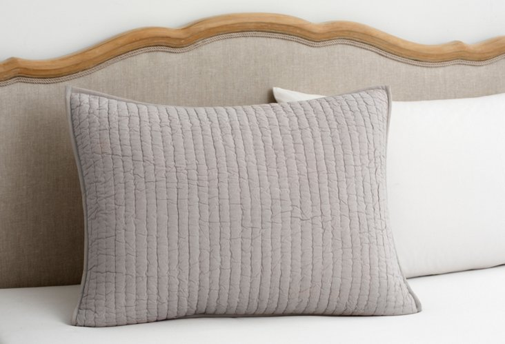 Quilted Standard Sham, Gray