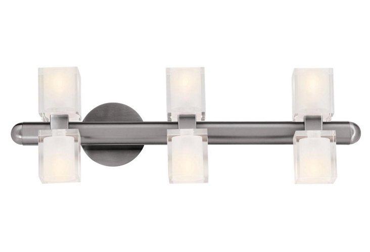 Union Crystal 3-Light Wall Bar
