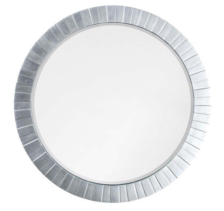 Circular Overlay Mirror, Silver