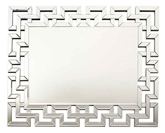 Volos Beveled Wall Mirror, Clear