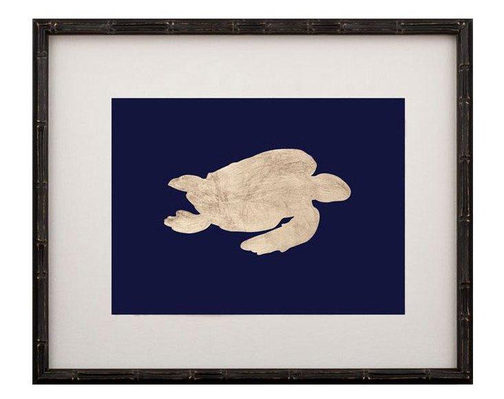 Gold-Leaf Turtle on Navy I