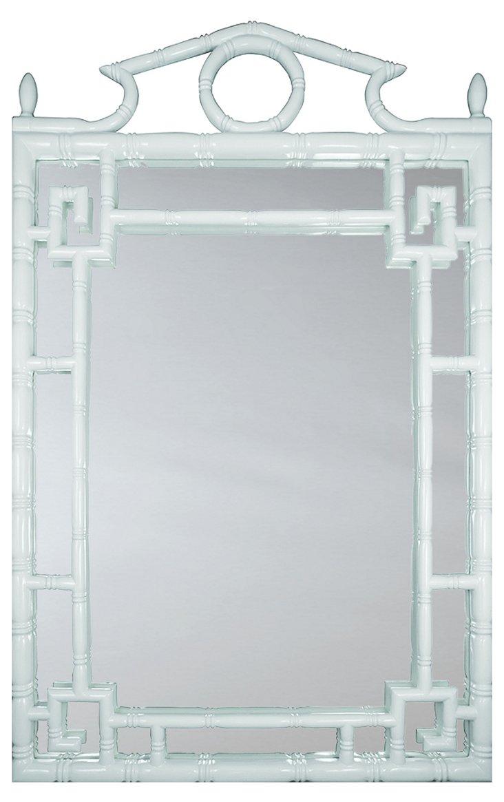 Pagoda Oversize Mirror, White