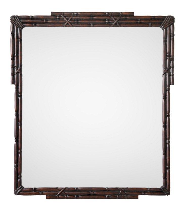 Alridge Oversize Mirror, Walnut