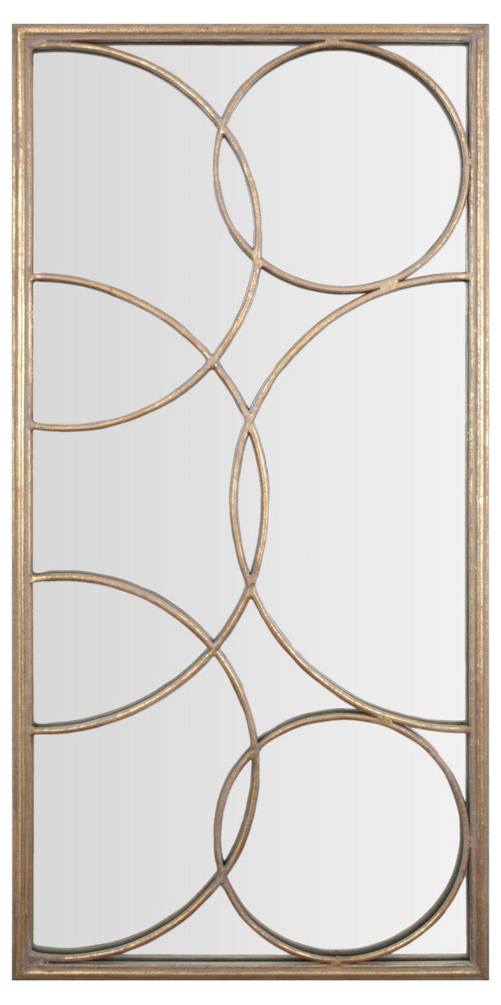 Transitional Wall Mirror, Gold Leaf