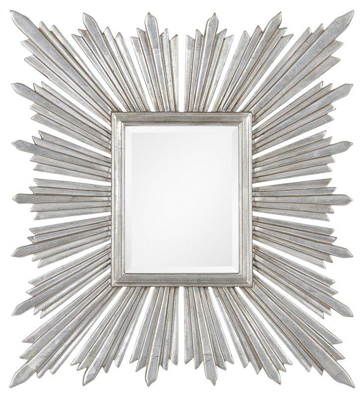 Sunburst Accent Mirror, Silver